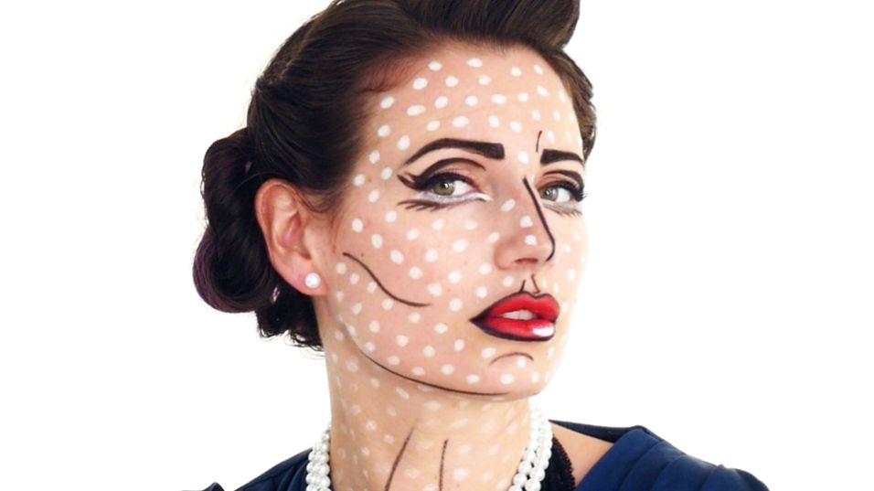 Идеальный поп-арт макияж для Хэллоуина - PEOPLETALK