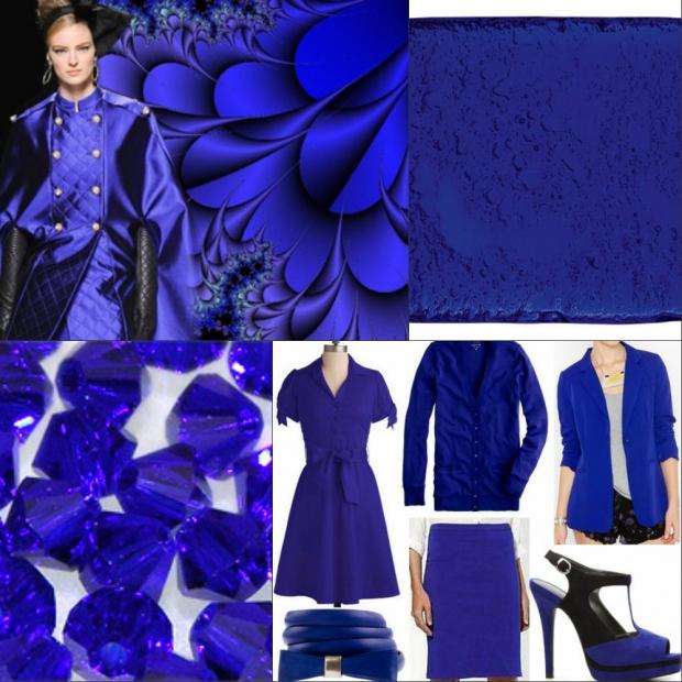 васильковый цвет в одежде