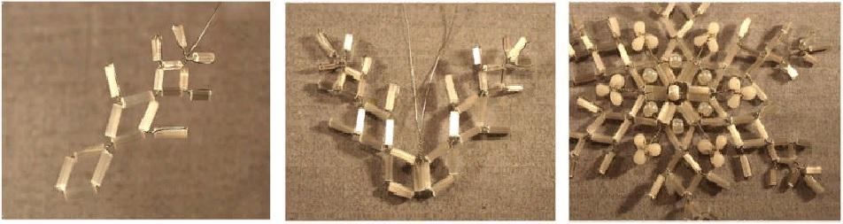 снежинка из бисера схема плетения