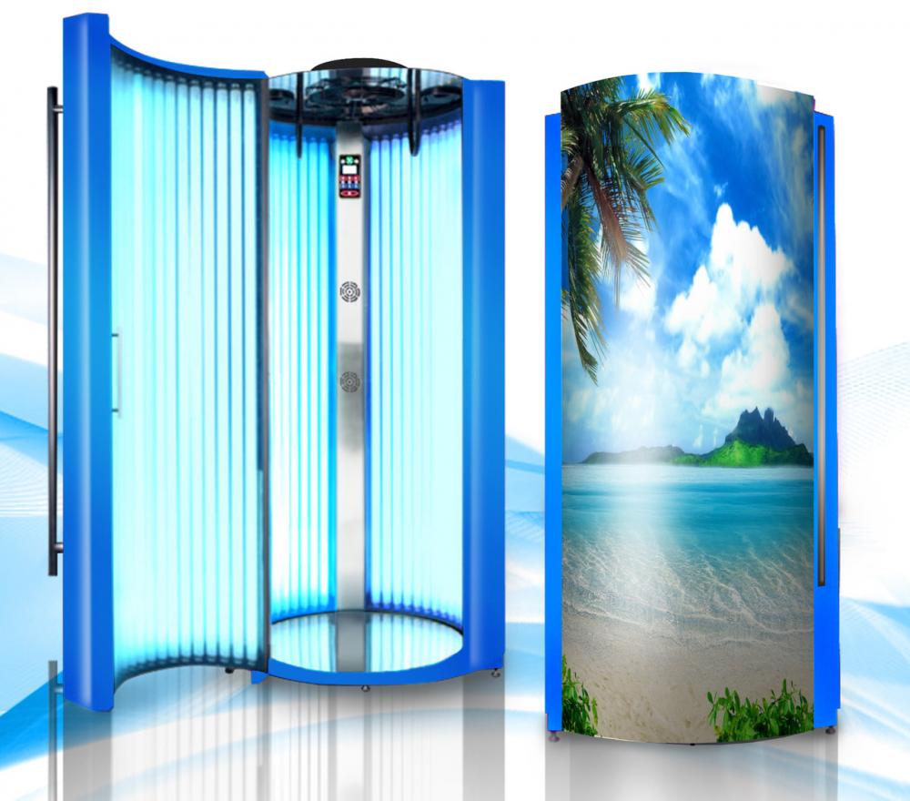 Профессиональный вертикальный солярий GoldenSun 48 лампы: продажа ...