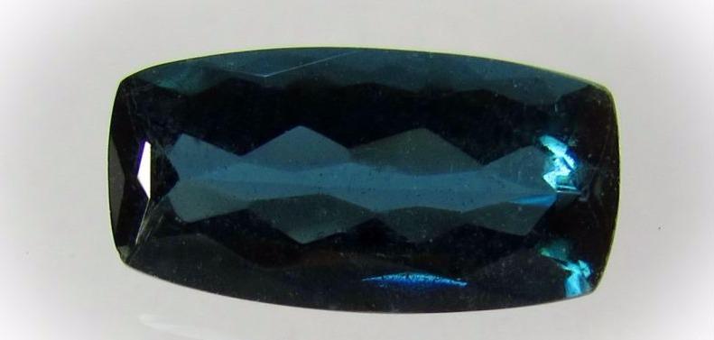 Купить турмалин-индиголит, синий, ограненный камень, № 12789