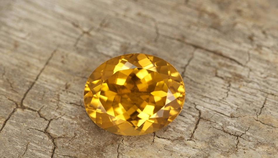 Натуральный желтый турмалин