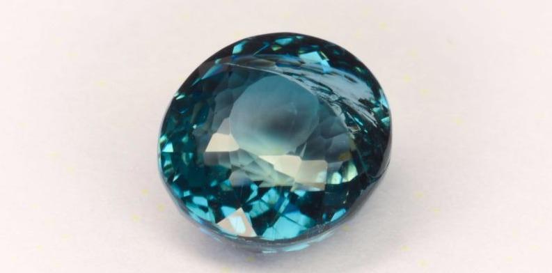Купить турмалин Параиба, синий, ограненный камень, № 16929