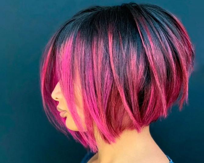 Балаяж розовый