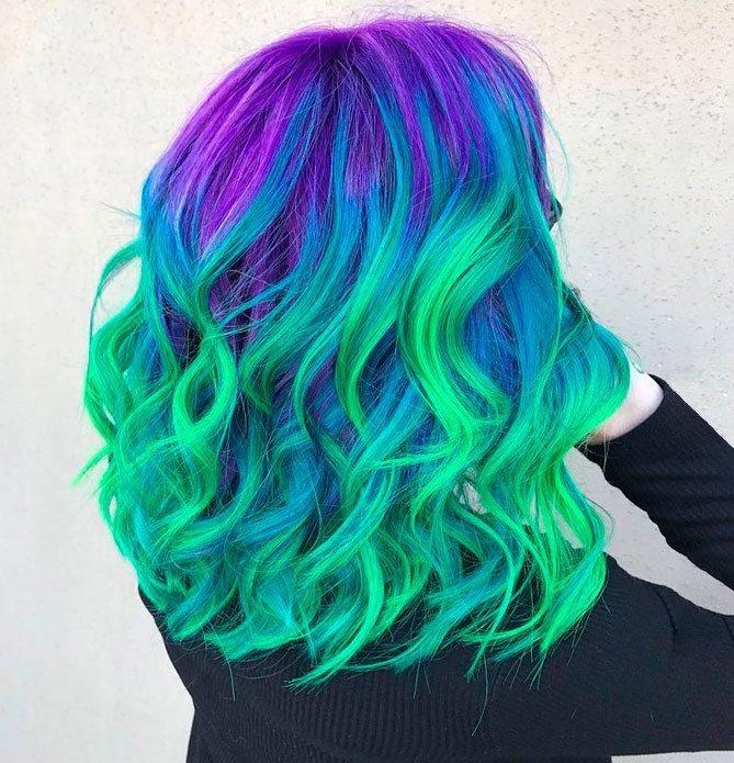 Балаяж сине-зеленый